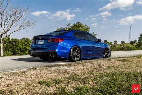 acura tlx hybrid forged series hf 1 vossen wheels