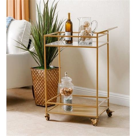 Kitchen Furniture Shopping by Abbyson Living Marriot Gold Kitchen Bar Cart Overstock