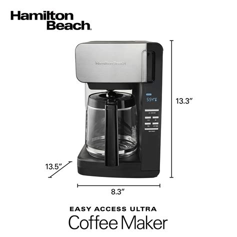 The hamilton beach brewstation summit is similar to its predecessors in. Hamilton Beach 12 Cup FrontFill™ Programmable Ultra Coffee Maker, Black & Stainless - 46203