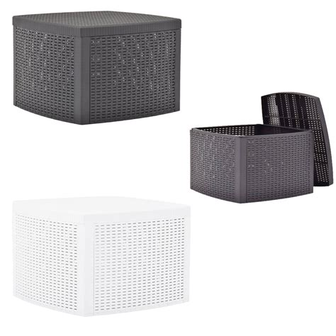 Complete your yard setup with outdoor accent tables. Plastic Cube Rattan Garden Furniture Side Table Small ...