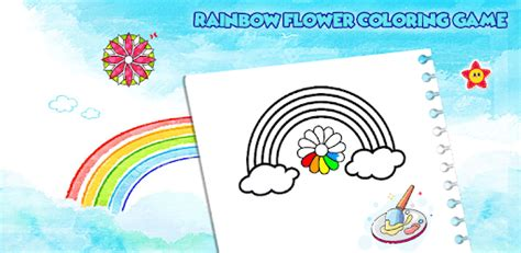 rainbow flower coloring  drawing  kids  pc