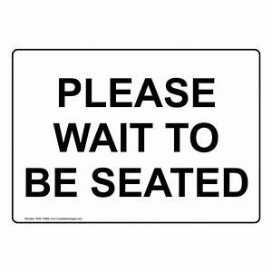 please wait to be seated sign nhe 15665 dining With please wait