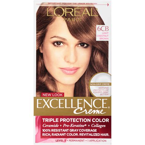Professional Brown Hair Dye by L Oreal 6cb Light Chestnut Brown Hair Color 1 Kt Box