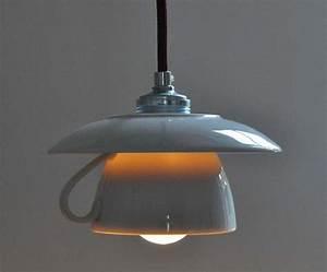 Lampen Selber Herstellen : h ngelampen tassenlampe mit bordeauxfarbenem kabel ein ~ Michelbontemps.com Haus und Dekorationen