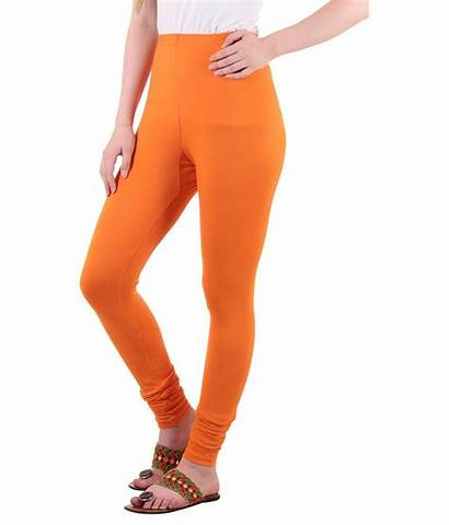 Leggings Lycra Orange Cotton Diaz