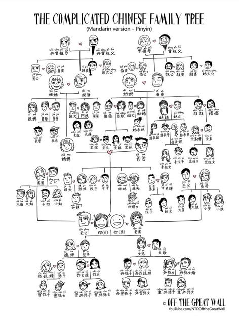 complicated chinese family tree