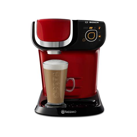 Smart, compact and easy to use. Tassimo By Bosch TAS6503GB My Way Pod Coffee Machine - Red