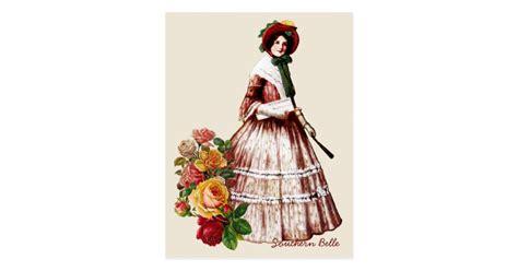 southern belle vintage postcard zazzle