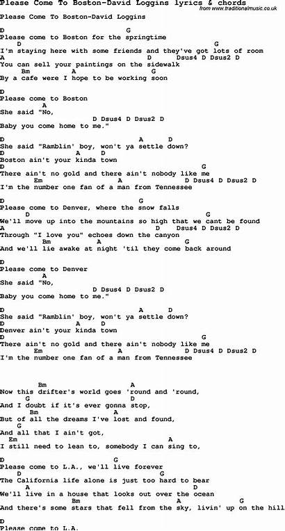 Boston Come Please Loggins Lyrics Chords David
