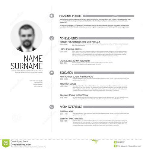 Proper Resume Exle by Plantilla Cv Curriculum Vitae Stock De Ilustraci 243 N