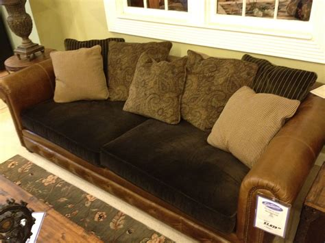 Leather Sofa Upholstery by Leather With Fabric Cushions Furniture Sofa