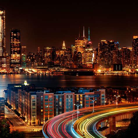 york city view   jersey  night desktop wallpapers