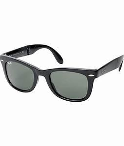 Ray-Ban Folding Wayfarer Gloss Black Sunglasses | Zumiez