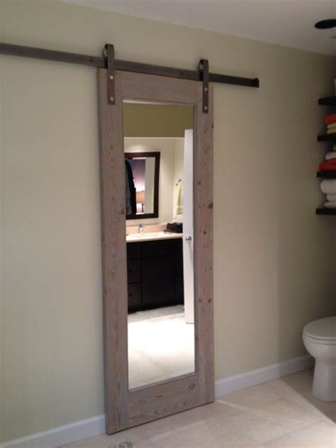 bathroom door sliding bathroom door gray toned antique wood doors