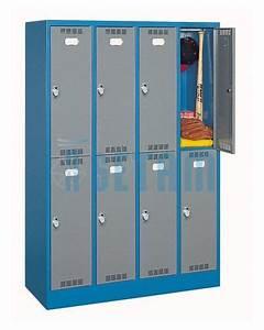 Casier De Vestiaire : casier vestiaire metallique casier de vestiaire sport 8 cases ~ Edinachiropracticcenter.com Idées de Décoration