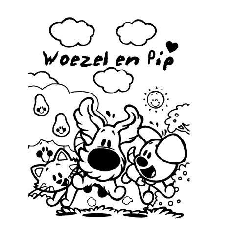 Kleurplaat 1 Jaar Woesel En Pip by Leuk Voor Woezel En Pip 0003
