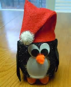 Christmas Water Bottle Penguin Craft