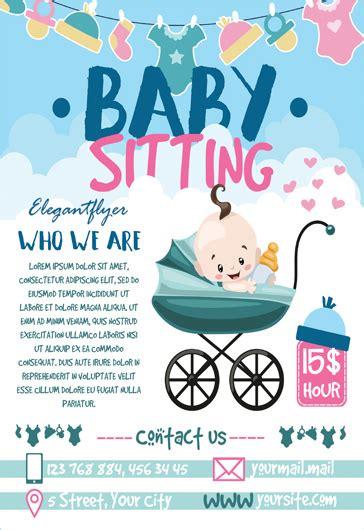 babysitting flyer template free free babysitting psd template by elegantflyer