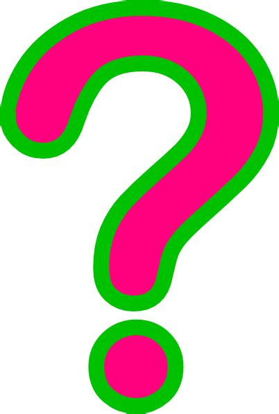 Question Clipart Pink Green Question Clip At Clker Vector