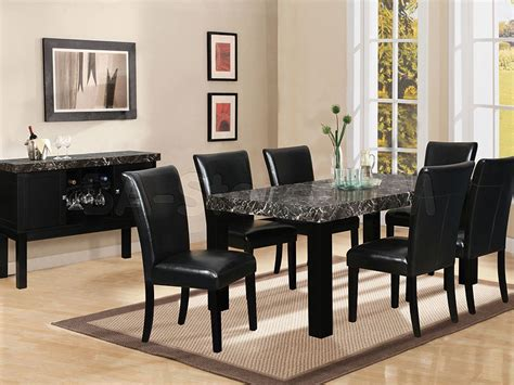 furniture dining room sets 7 black marble dining table black dining room set