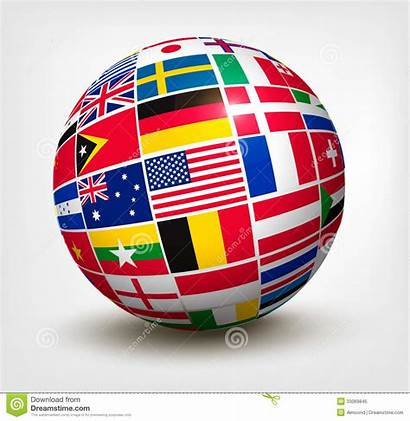 Globe Flags Vector Illustration