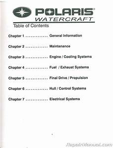 2002 2004 Polaris Octane Personal Watercraft Repair Manuals