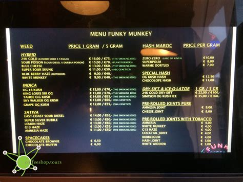 There are dozens of coffeeshops in amsterdam. Coffeeshop Funky Munkey in Amsterdam - coffeeshop.tours
