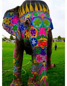 Painted Elephant | Elephants | Pinterest | Painted ...
