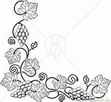 Coloring Pages Corner Grapes Edge Bottom Left Printable Vines Ong Grape Fruits Drawing Vine Flower Adults Coloringpages101 Wood Burning Border sketch template