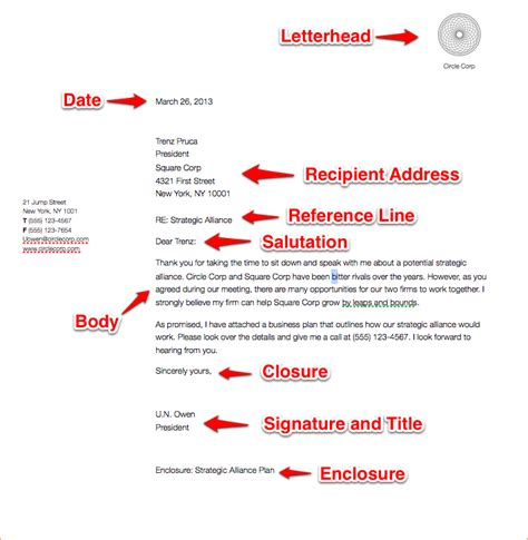 example of business letter a business letter format example business 21567 | a business letter format example business letter sample
