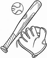 Baseball Bat Glove Coloring Ball Pages Mlb Chicago Cubs Drawing Gears Softball Complete Players Clipart Printable Getdrawings Hat Getcolorings Getcoloringpages sketch template