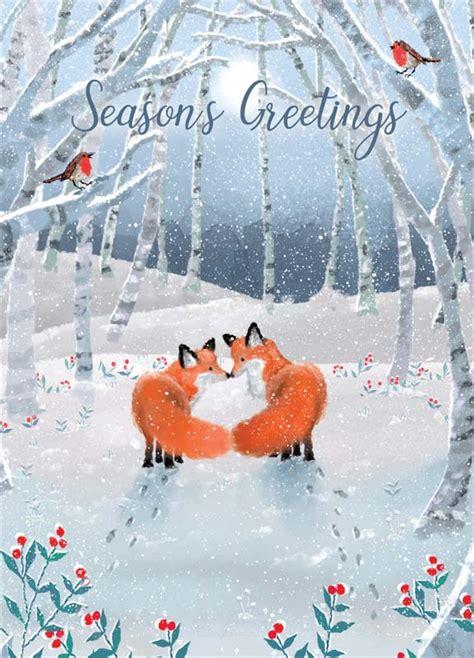 tracks publishing  fox christmas card xnq