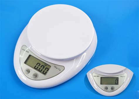 Small White G/g Electronic Lcd Digital Kitchen Scale