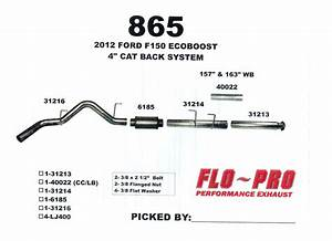 2011-2014 F150 3 5l Ecoboost Flo-pro 4 U0026quot  Stainless Steel Cat Back Exhaust Ss865