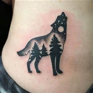 Small Wolf Tattoos for Women