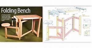Folding Wood Carving Bench Plans • WoodArchivist