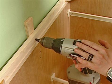 how to install base cabinets how to install a new cabinet how tos diy