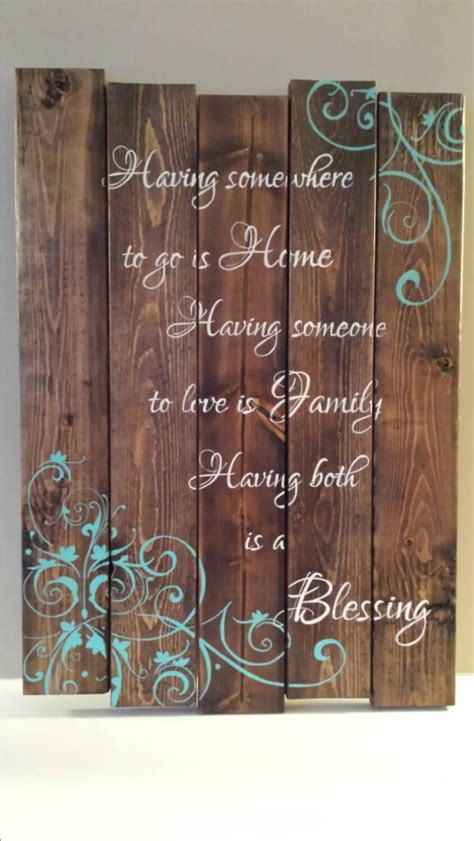 reclaimed wood wall art family quote sign  tinhatdesigns