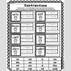 15 Best Free Contractions Printables & Activities Images On Pinterest  School, Teaching Ideas