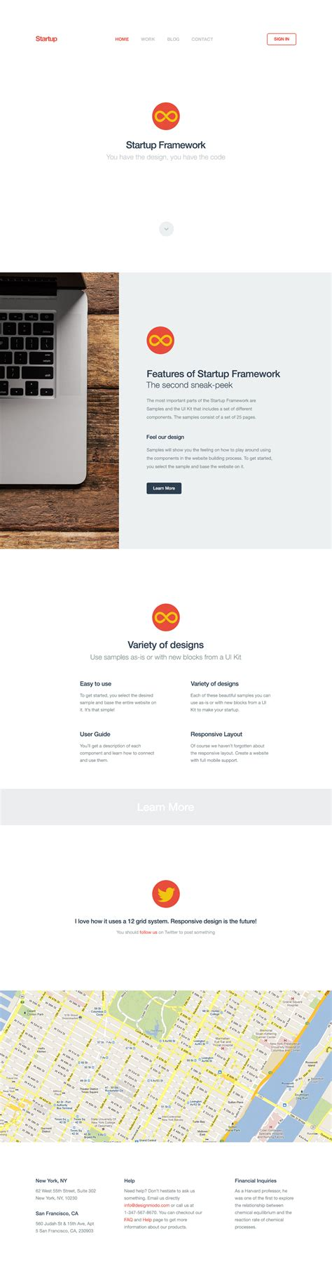 Top Startup Template Bootstrap by Start Bootstrap Startup Framework Templates By Designmodo