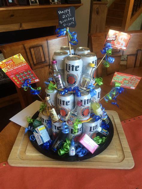 st birthday gift beer caketower good birthday