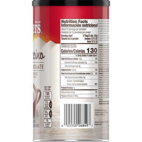 Sweeten the coffee crystals with sugar or folger's instant coffee is available in individual serving packets and canisters. Folgers Coffee Nutrition Facts Caffeine | Blog Dandk
