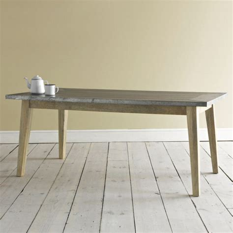 zinc kitchen table zinc top dining table loaf zinc table tops