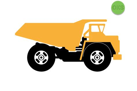 dump truck svg svg files vector clipart cricut   crafteroks thehungryjpegcom