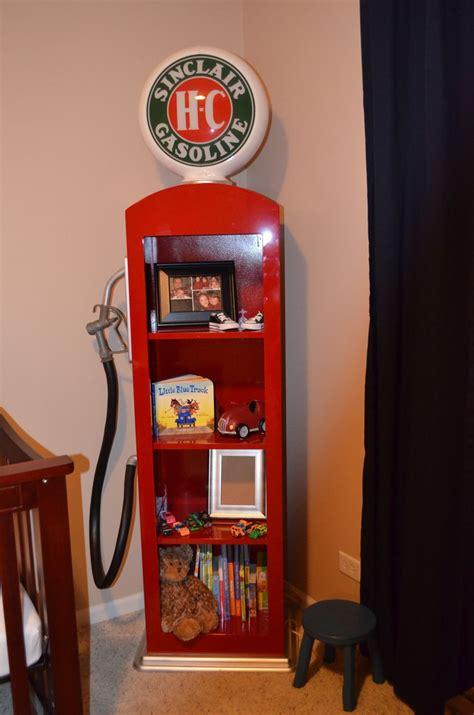 custom  gas pump book shelf  man cave