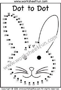 dot  dot numbers    printable worksheets