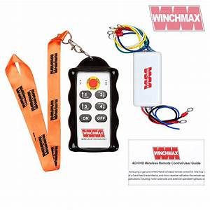 4 Channel Winch Remote Control  Wireless  Twin Hd Handsets