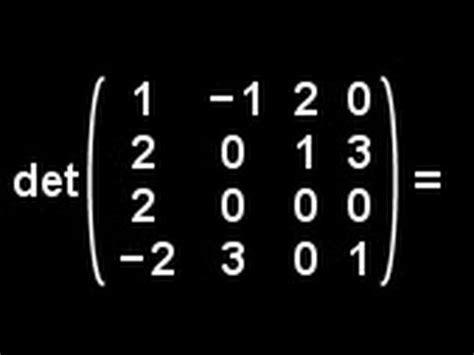 determinants    matrix   doovi