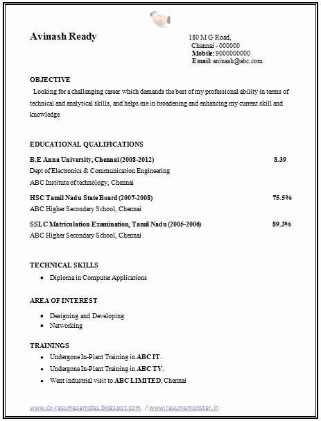 12340 sle resume for freshers engineers ece resume format for call center for fresher resume