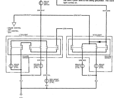 1991 Honda Accord Brake Light Wiring Diagram by Electrical Issue No Brake Lights Horn 90 Accord Plz Help